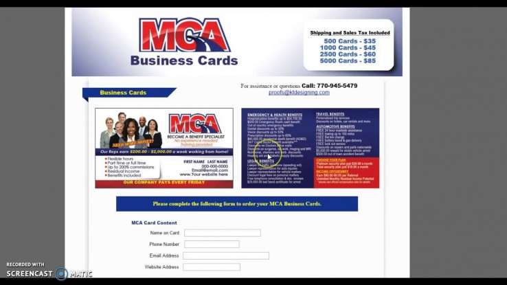 Motor Club Of America Offline Training K T Business Cards