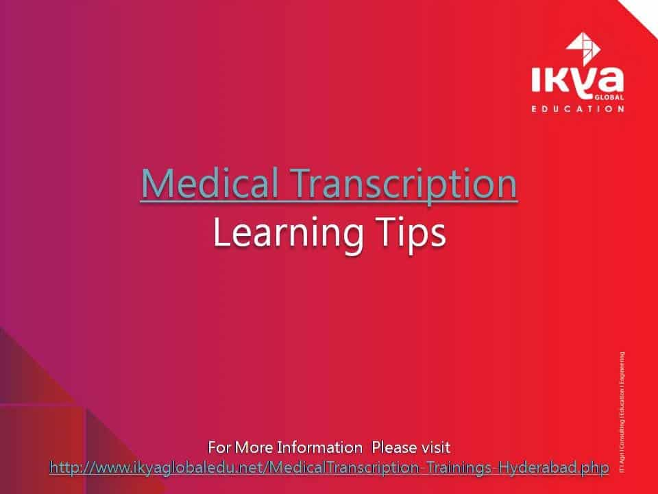 medical transcription is one of the Medical transcription is one such job not only can medical transcription be done from home, it is among the hottest careers in the united states today statistics have shown that the field of medical transcription has been growing steadily and will continue to grow at 8% till 2022.