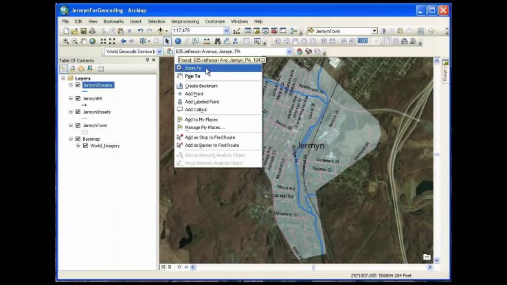 GIS Course – Simple Geocoding with Online Service | MCT