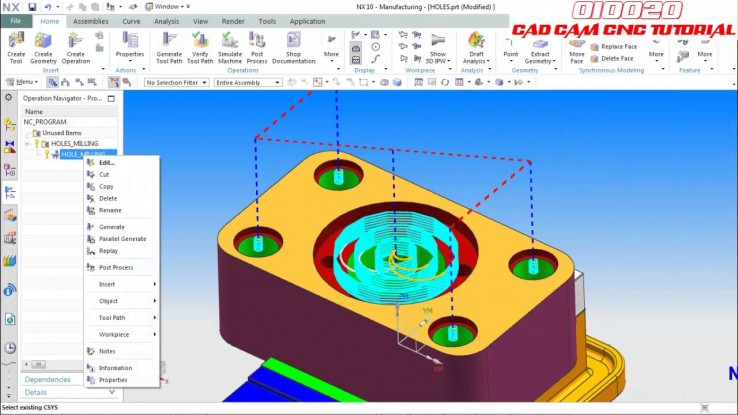 NX HOLES MILLING TUTORIAL PART 2 | MCT TRAINING CONSULTANT