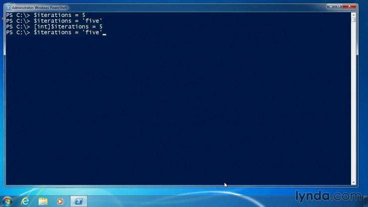 PowerShell Give variables a data type part45 | MCT TRAINING CONSULTANT