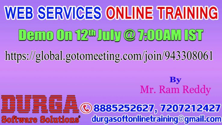 Web Services Online Training By Mr Ram Reddy Demo On 12th