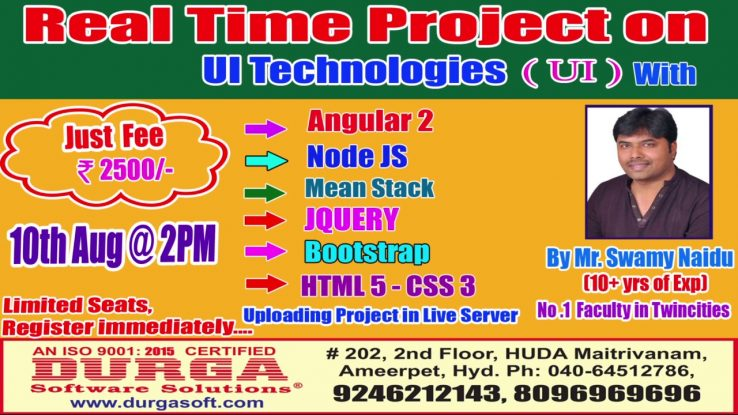Real Time Project On Ui Technologies By Mr Swamy Naidu On