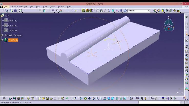 Catia Online Training How To Create A Pad Or Hole Not