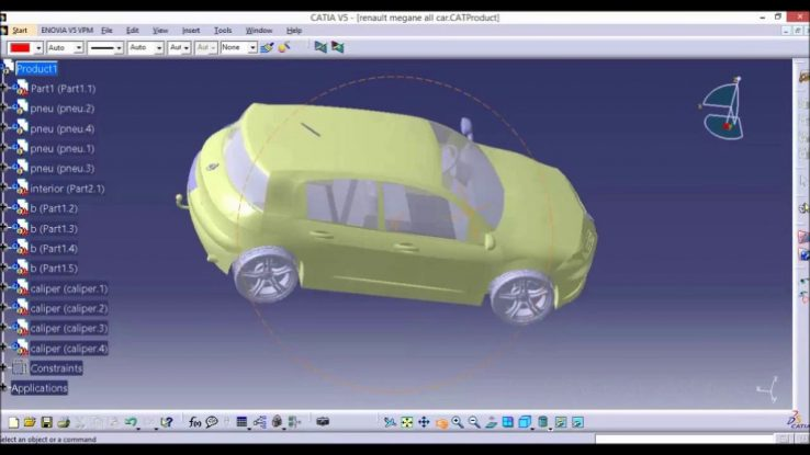 CATIA online training   car design overview for beginners