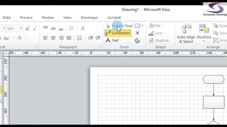 Adding text to flowchart shapes visio   MCT TRAINING CONSULTANT